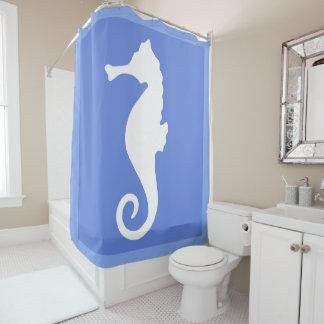 Blue Seahorse Shower Curtain