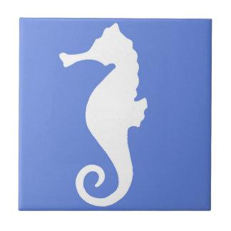 Blue Seahorse Tile