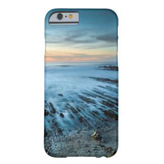 Blue seascape at sunset, California Barely There iPhone 6 Case