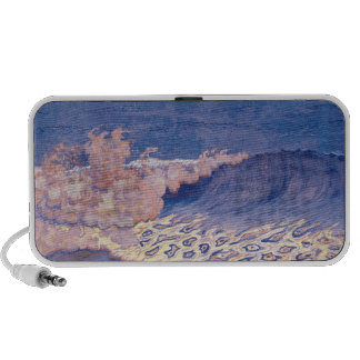 Blue seascape, Wave Effect, c.1893 Notebook Speakers