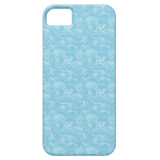Blue Seashell Pattern Case For The iPhone 5