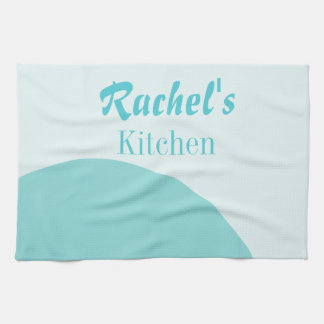 Blue Semi Circle Personalize Tea Towel