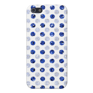 blue sequin effect dot pern -lite iPhone 5 cases