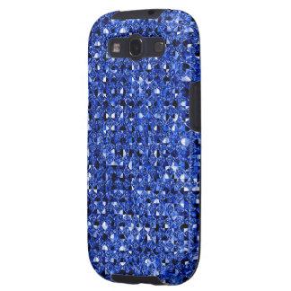 Blue Sequin Effect Phone Cases