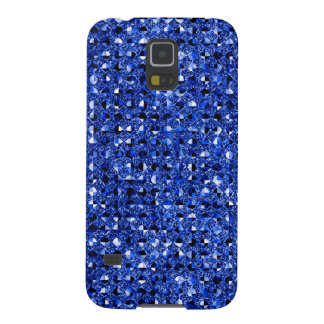 Blue Sequin Effect Phone Cases Cases For Galaxy S5