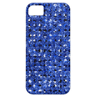 Blue Sequin Effect Phone Cases iPhone 5 Cases
