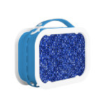 Blue Sequinned Bling Effect Lunch Boxes