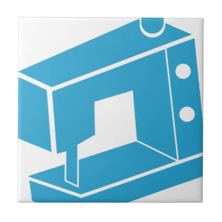 Blue Sewing Machine Icon Small Square Tile