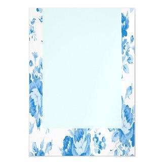 blue,shabby chic,roses,victorian,pattern,elegant,v magnetic invitations