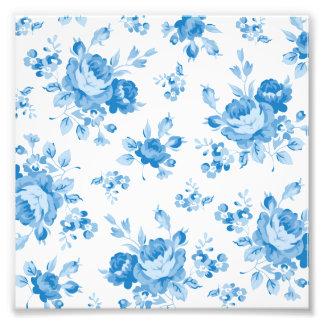 blue,shabby chic,roses,victorian,pattern,elegant,v photo print