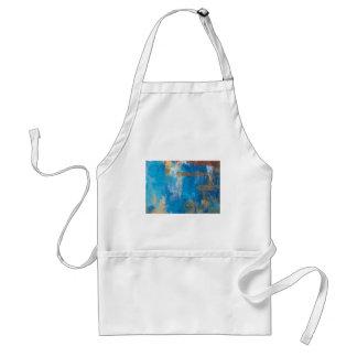 BLUE SHADE ABSTRACT ART STANDARD APRON
