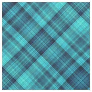 Blue shades tartan fabric