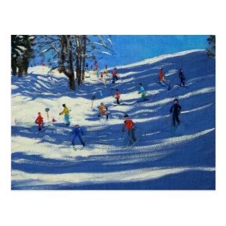 Blue shadows Morzine Postcard