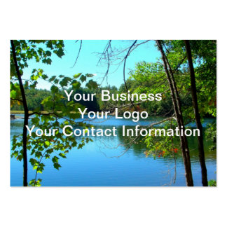 Blue Shadowy Country Lake Pack Of Chubby Business Cards