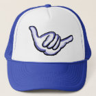 Blue shaka Hawaii hat