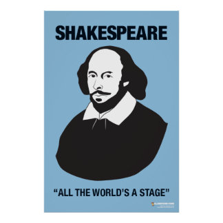 Blue Shakespeare Classroom Poster