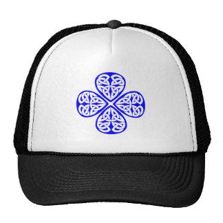 blue shamrock celtic knot cap