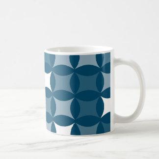Blue Shapes Basic White Mug