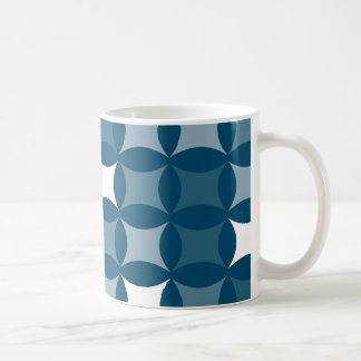 Blue Shapes Classic White Coffee Mug