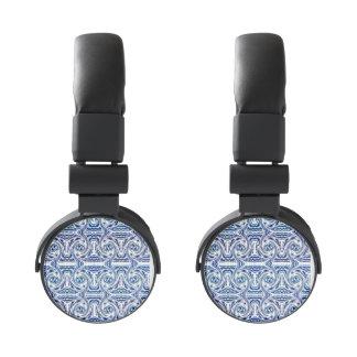 Blue Shapes Headphones