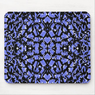 Blue Shapes Mouse Pad