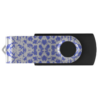 Blue Shapes USB Flash Drive Swivel USB 3.0 Flash Drive
