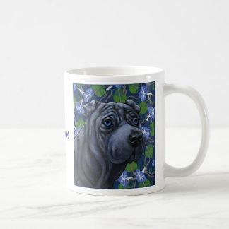 Blue Shar Pei Dog Mug