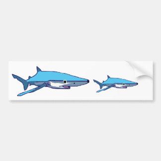 Blue-Shark bumper sticker