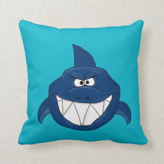 Blue shark cushion