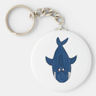 Blue shark key ring