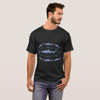 Blue Shark Marine Biology Art T-Shirt
