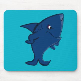 Blue shark mouse mat