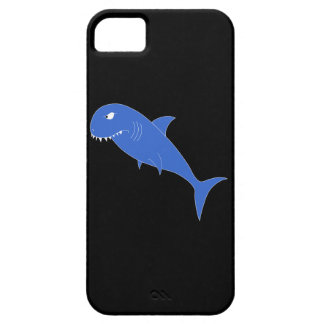Blue Shark on Black. Barely There iPhone 5 Case
