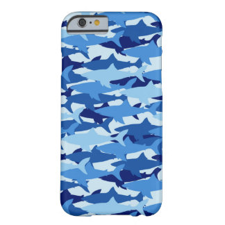Blue Shark Pattern Barely There iPhone 6 Case