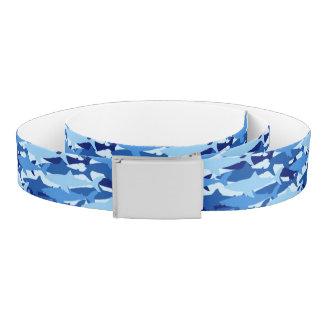 Blue Shark Pattern Belt