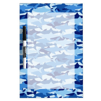 Blue Shark Pattern Dry Erase Board