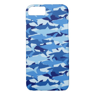 Blue Shark Pattern iPhone 8/7 Case