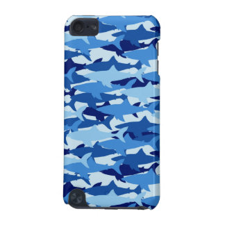 Blue Shark Pattern iPod Touch (5th Generation) Covers