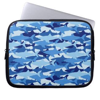Blue Shark Pattern Laptop Sleeve