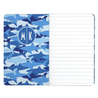 Blue Shark Pattern | Monogram Journals