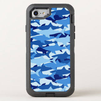 Blue Shark Pattern OtterBox Defender iPhone 8/7 Case
