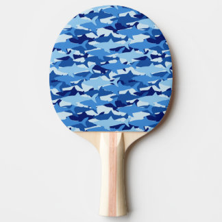 Blue Shark Pattern Ping Pong Paddle