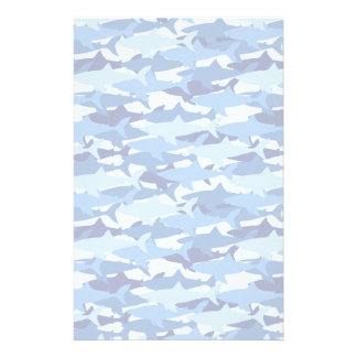 Blue Shark Pattern Stationery