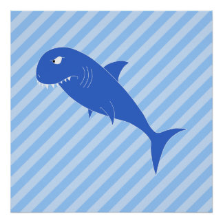 Blue Shark Print