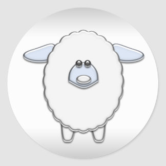 Blue Sheep Baby Shower Stickers