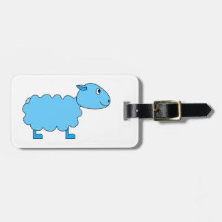 Blue Sheep. Luggage Tag