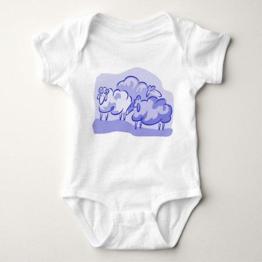Blue Sheep Onzie Baby Bodysuit