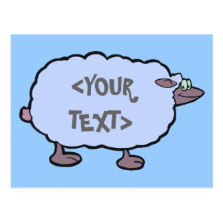 Blue Sheep YOUR TEXT Post Card