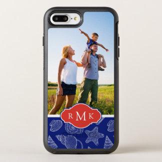 Blue Shell Pattern | Monogram OtterBox Symmetry iPhone 8 Plus/7 Plus Case