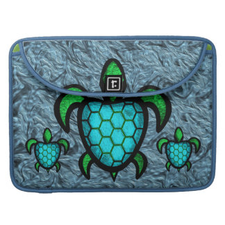 Blue Shell Turtle MacBook Pro Flap Sleeve